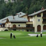 Clubhaus Golf Club Alvaneu Bad; Fairway und Green 18